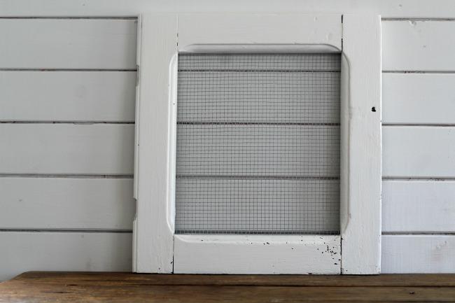 white painted cabinet door