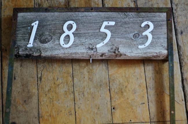 DIY hanging planter house number sign