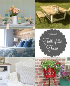 Talk of the Town features tablescape, DIY wood wall and more - www.knickoftime.net