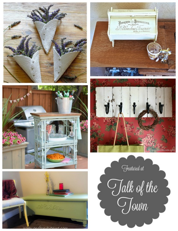 DIY projects featured atTalk of the Town link party - Knick of Time