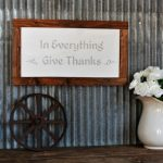 Give Thanks DIY Painted Wood Sign
