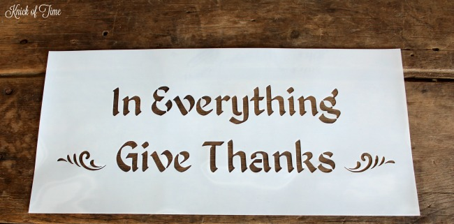 In everything give thanks fall sign stencil - www.knickoftime.net