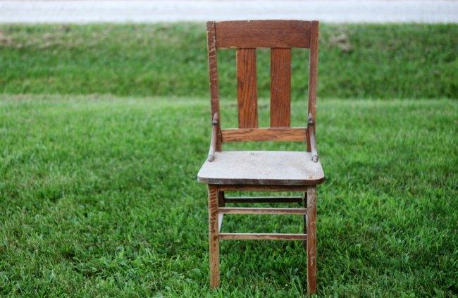 broken wood chair