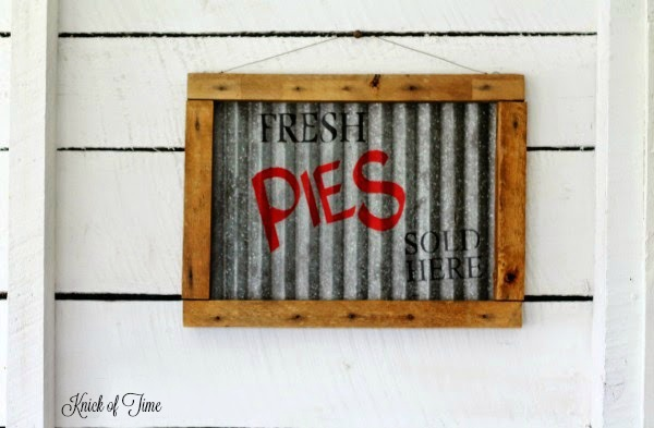 Diy Corrugated Metal Signs Easy Craft