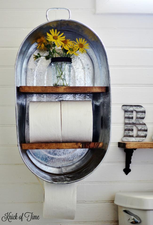 Farm Supply Inspired Diy Bathroom Shelf Knick Of Time