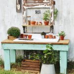 Potting Bench from Old Work Table Reveal