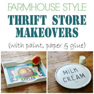 Easy Thrift Store Makeovers you can finish in one day! - www.knickoftime.net