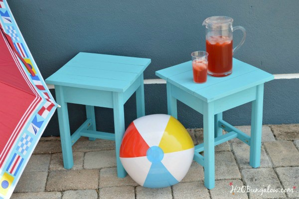 DIY patio table plans featured at Talk of the Town - www.knickoftime.net