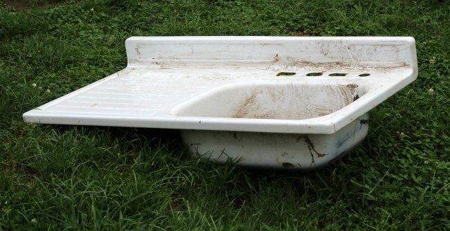 Salvaged Farmhouse Sink