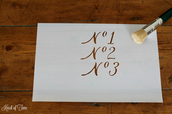 Script font number stencils | Knick of Time's Vintage Sign Stencils | www.knickoftime.net
