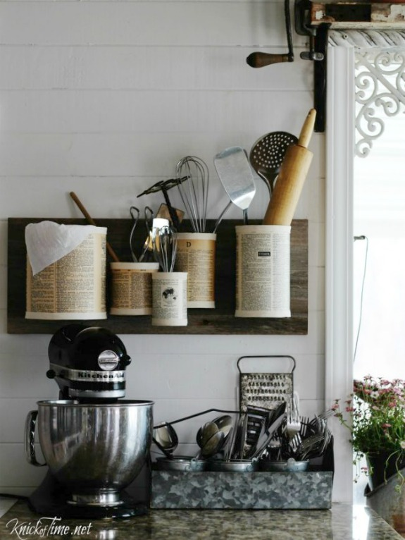 tin can kitchen organizer