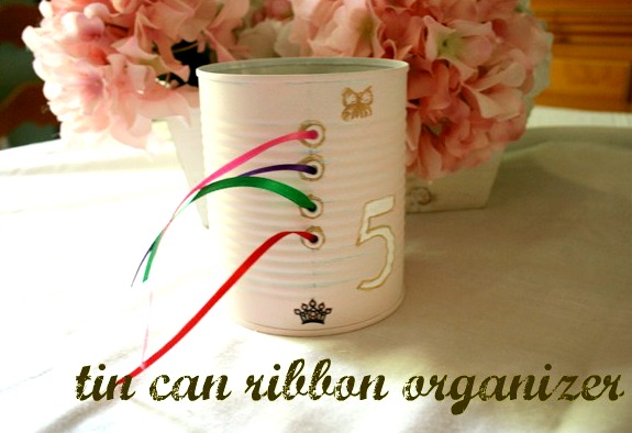 tin can ribbon organizer