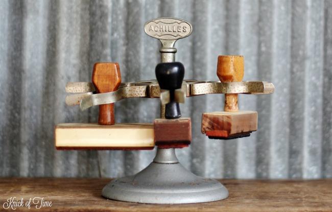 vintage rubber stamp holder