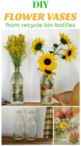 Hot to turn recycle bin bottles into flower vases to give as gifts - www.knickoftime.net