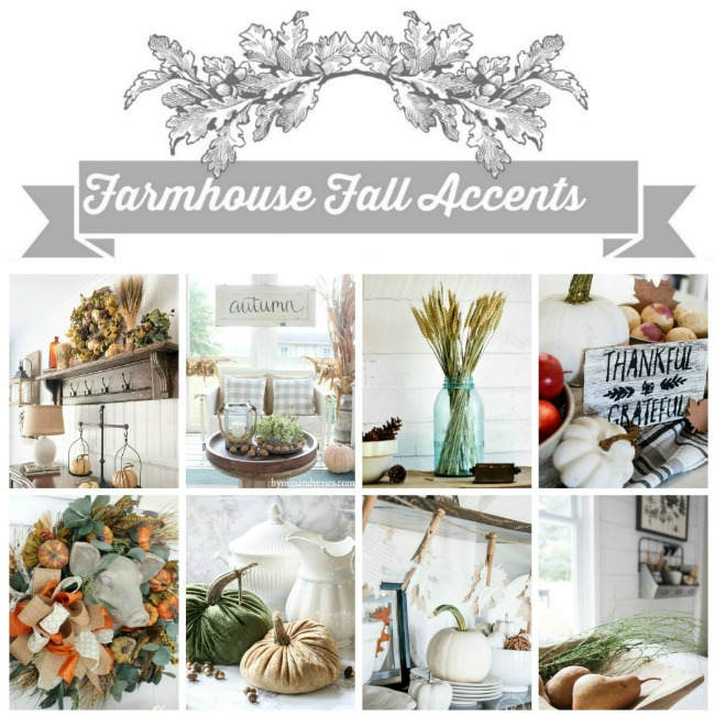 Ideas and inspiration for fall decorating from eight farmhouse style bloggers - www.knickoftime.net
