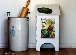 Homemade Gifts and 80's Wooden Bin Makeover