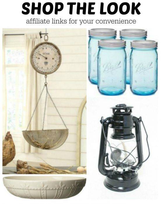 Shop the look for farmhouse style decor - www.knickoftime.net