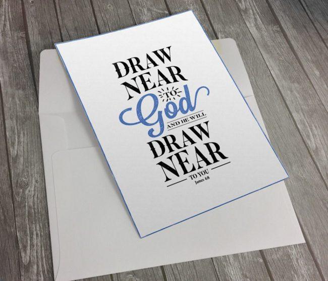 Typography Bible verse notecard - www.knickoftime.net