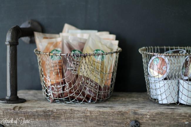 DIY Rustic Coffee Shop Wood Shelf Tutorial   www.knickoftime.net
