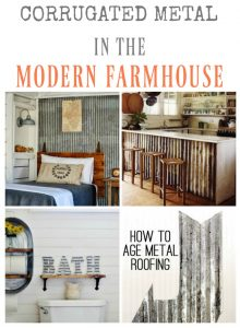 9 Farmhouse Style Corrugated Metal Projects - www.knickoftime.net