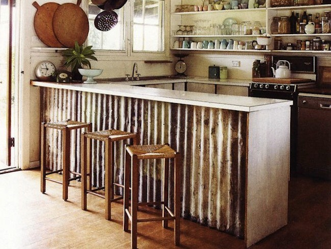 Metal Kitchen Island Corrugated Metal It Isn T Just For Old Barns Knick Of