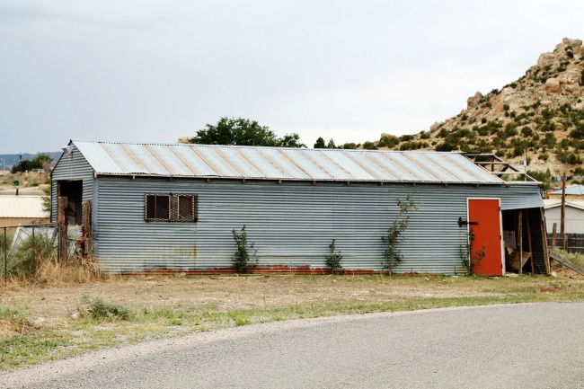 corrugated metal shed