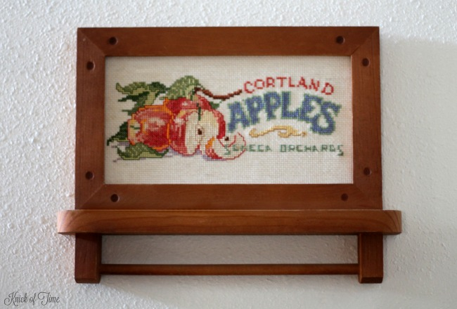 homemade gifts cross stitch kit apples label