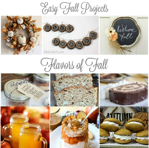 autumn recipes and DIY home decor projects featured at Talk of the Town - www.knickoftime.net