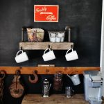Coffee Shop at Home Reclaimed Wood Coffee Station