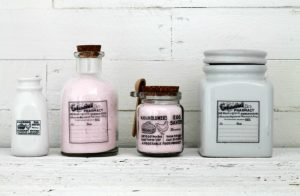Weekend Project: Easy Vintage Style Glass Bottles and Jars
