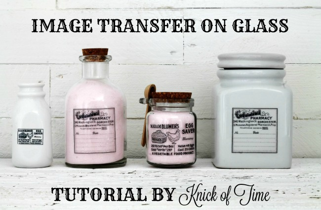 Easy weekend project to make gorgeous bottles and jars with free graphics or design your own! - www.knickoftime.net