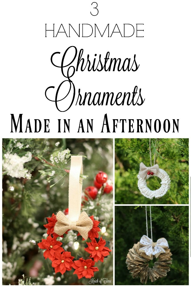 Three DIY handmade Christmas ornaments you can make in one afternoon! | www.knickoftime.net
