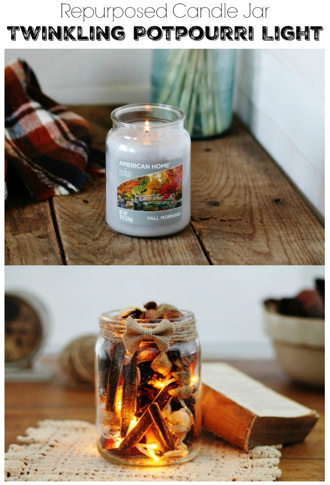 Learn how to create a twinkling potpourri light tutorial - www.knickoftime.net