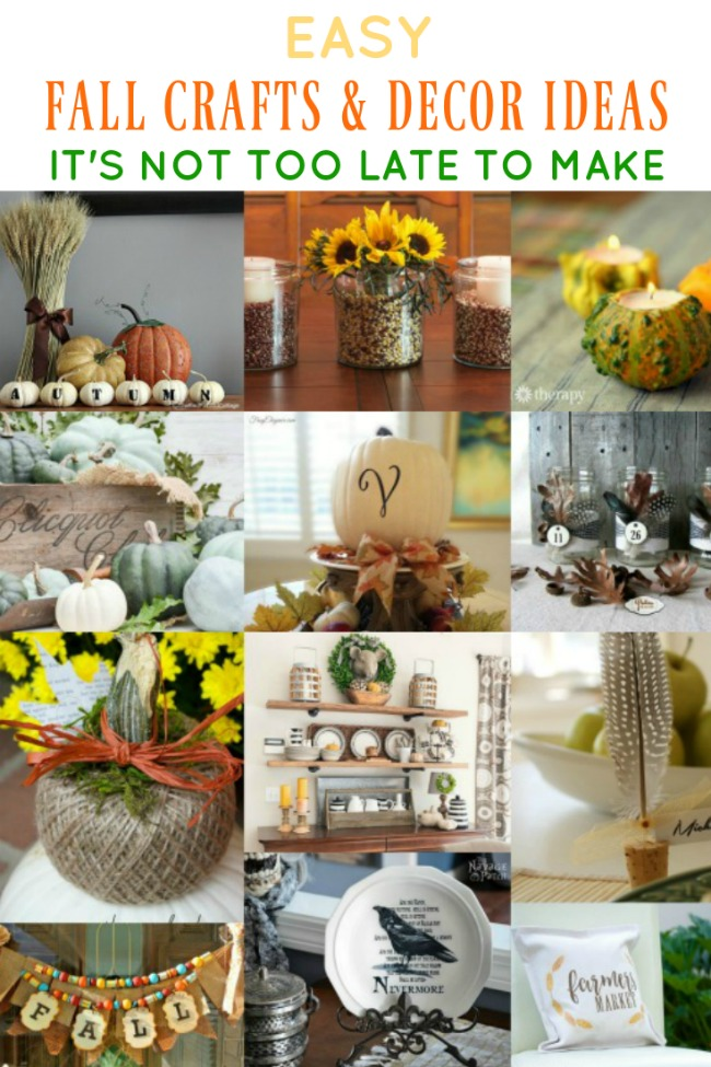Last Minute Easy Fall Crafts and Home Decor Ideas- www.knickoftime.net