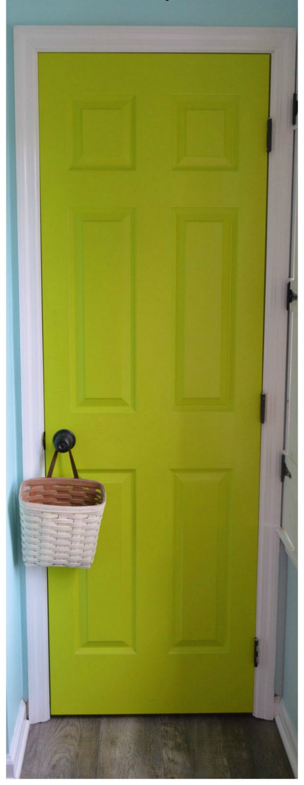 How to paint a six panel door featured at Talk of the Town