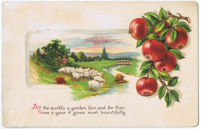 antique-thanksgiving-postcard-pastoral-scene-knick-of-time