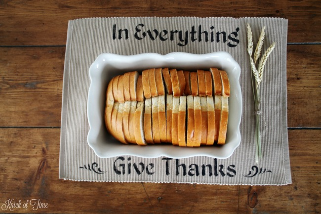 DIY Thanksgiving Placemat Table Centerpiece & thoughts on being thankful - www.knickoftime.net