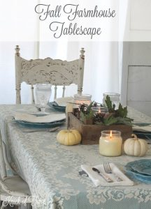 Table Setting for Fall in Non-Traditional Colors