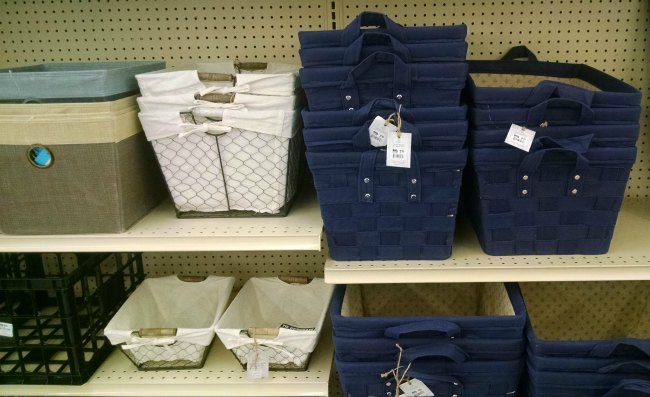 storage baskets and bins Big Lots