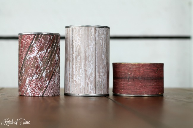 Repurposed Tin Can Candles for rustic home decor or outdoor barn weddings - www.knickoftime.net