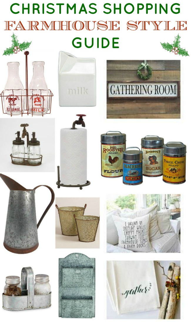 Fixer Upper Farmhouse Style Decor Holiday Shopping Guide - www.knickoftime.net