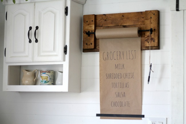 Grocery List Diy Paper Wall Dispenser Knick Of Time