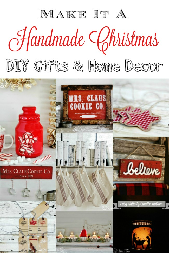 Homemade Christmas gifts, ornaments and decorating ideas - www.knickoftime.net