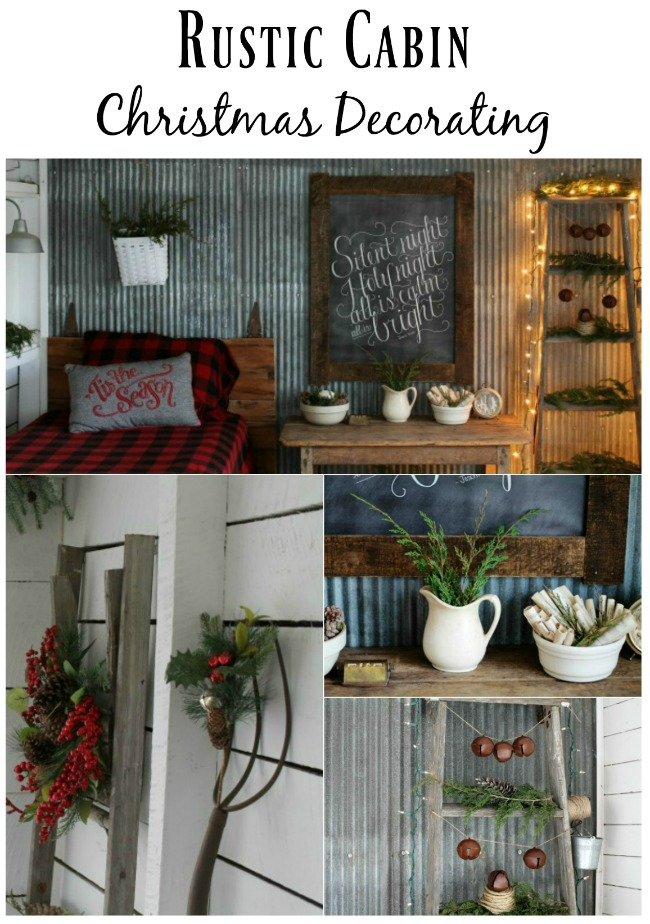 Rustic Woodland Christmas Guest Room Decorating - www.knickoftime.net