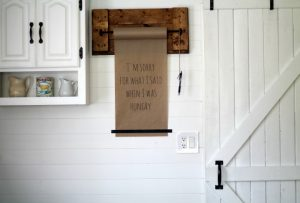Grocery List DIY Paper Wall Dispenser