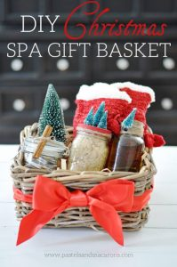 DIY spa gift basket Christmas gift featured at Talk of the Town - www.knickoftime.net
