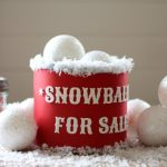 DIY Christmas Gifts   Snowballs for Sale Gift Can