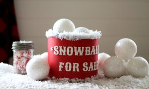 DIY Christmas Gifts | Snowballs for Sale Gift Can