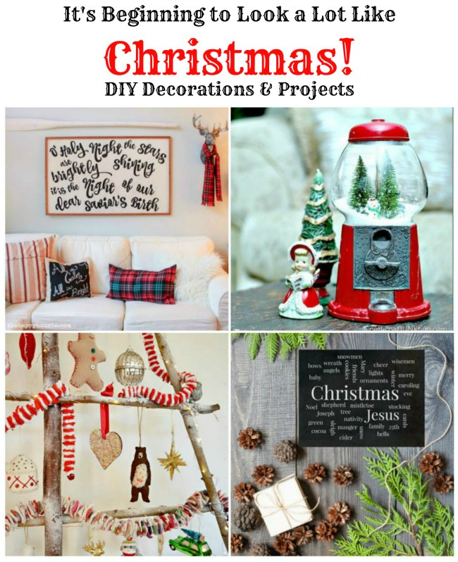 DIY Christmas decorations, signs and project features at Talk of the Town - www.knickoftime.net