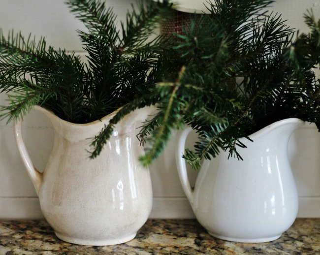 Decorating with antiques and natural elements for Christmas decor - www.knickoftime.net